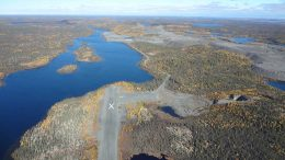 The landing strip at Nighthawk Gold's Indin Lake gold property in the Northwest Territories. Credit: Nighthawk Gold.