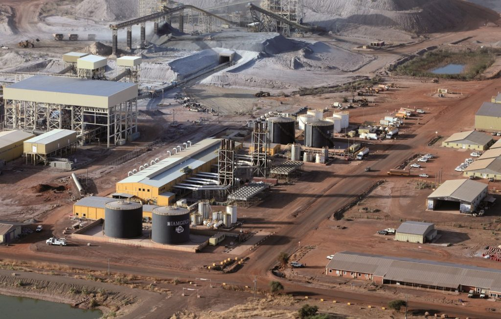 The 57 MW thermal power plant at Iamgold's Essakane gold mine in Burkina Faso. The plant consists of 11 generators which operate on heavy fuel oil trucked in from Benin and Togo. Credit: Iamgold.