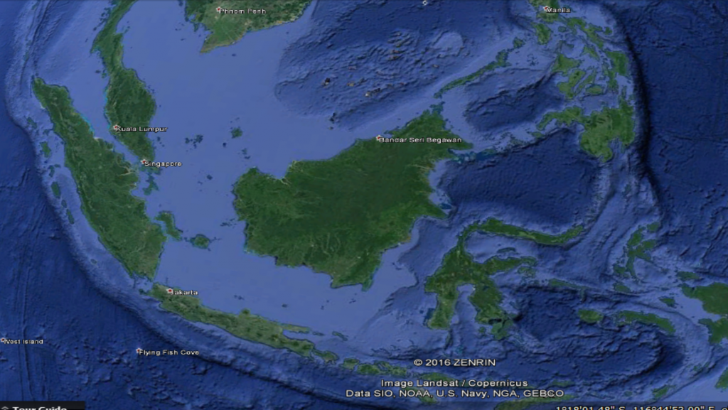 The volcanic arcs in Indonesia and the Philippians are the modern-day analogues of the Stikinia and Quesnellia arcs of Western Canada before they were accreted onto the North American landmass. Complex plate interactions lead to a variety of deposits, including porphyry-epithermal and volcanogenic massive sulphides as the arcs develop. Credit: Google Earth.