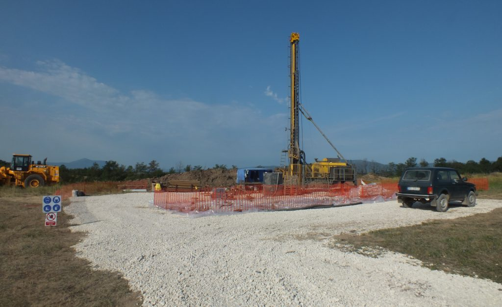 Drilling at the Timok copper-gold prospect by Reservoir Minerals in 2012. Credit: Reservoir Minerals.