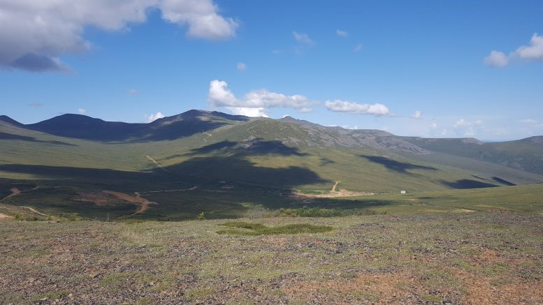 The proposed site of Western Copper and Gold's open-pit operation on the Yukon Plateau. Photo by Matthew Keevil.