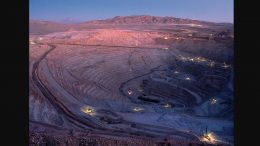 The Escondida copper mine in Chile's Atacama desert. Owned 57.5% by operator BHP Billiton, the mine is the largest copper mine in the world at 1.25 million tonnes copper production annually. Credit: BHP Billiton.