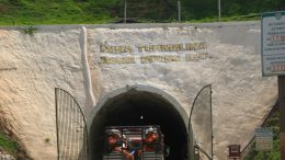 Entering Jaguar Mining's Turmalina underground gold mine in Brazil in 2008. Photo by The Northern Miner.