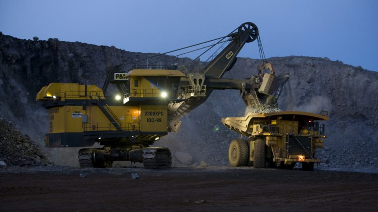 Equipment at IOC's mine near Labrador City, Newfoundland and Labrador. Shot was taken August 2010. Credit: Rio Tinto