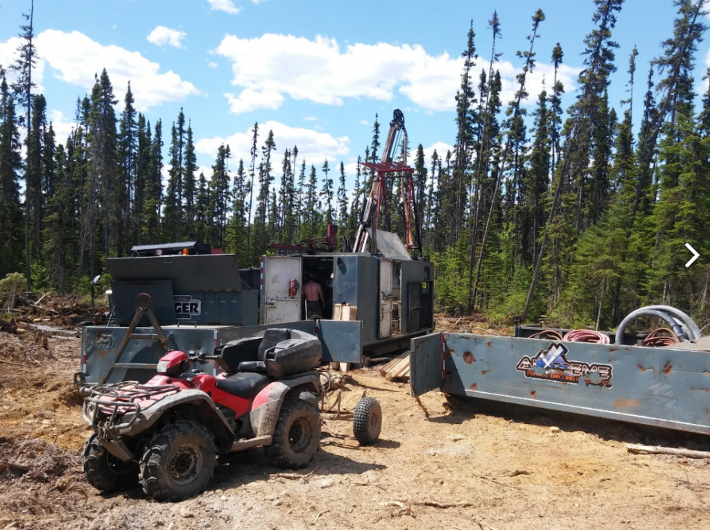 Drilling at the Gladiator project in Quebec. Credit: BonTerra Resources.