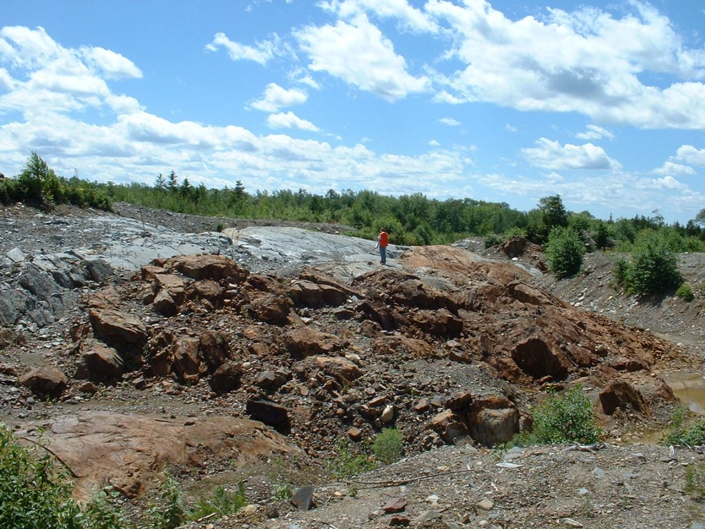 West Zone one of the Proximal Deposits at the Clarence Stream gold project in New Brunswick. Credit: Wolfden Resources.