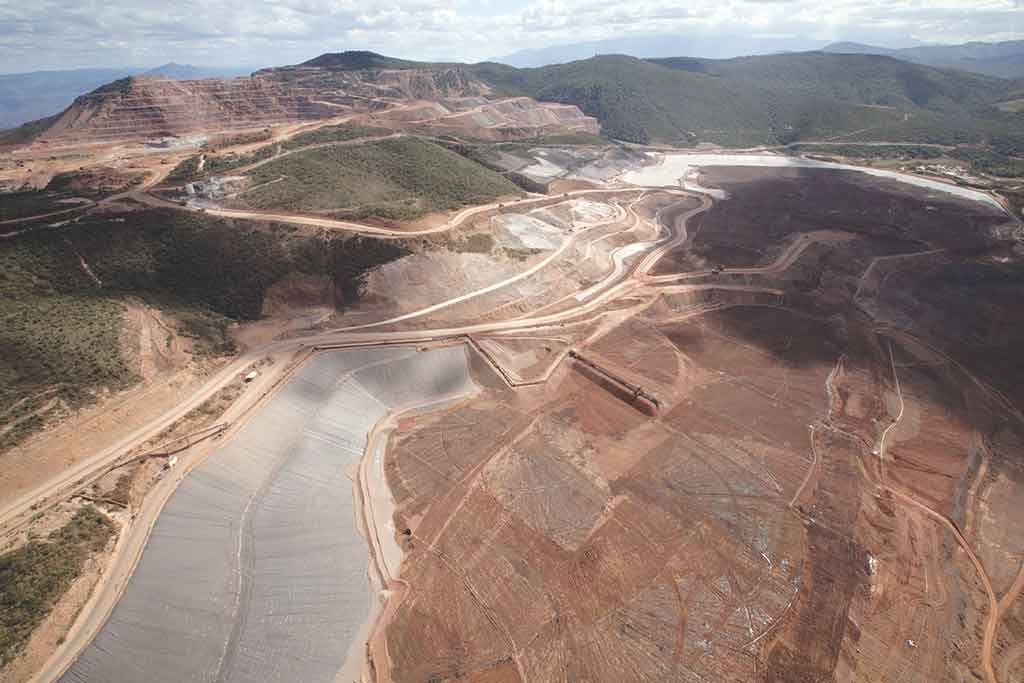 Los Filos has been Mexico's third-largest gold mine, based on 2015 production numbers. The mine lies 230 km south of Mexico City. Credit: Leagold Mining.