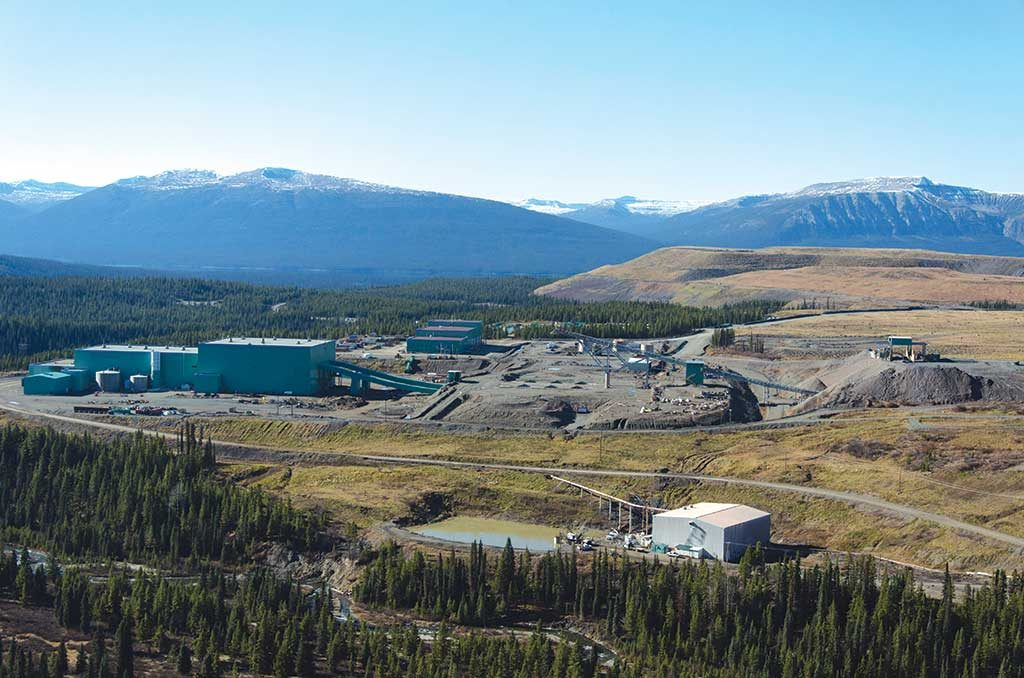 Infrastructure at AuRico Metals' past-producing Kemess copper-gold project, 250 km north of Smithers, British Columbia. Credit: AuRico Metals.