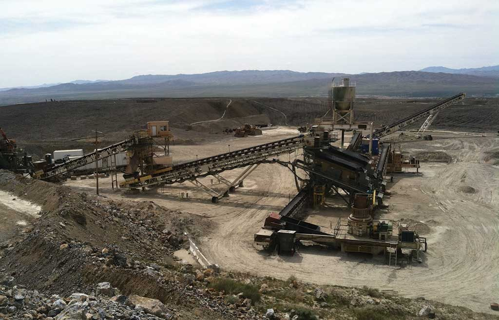 The crusher at Rye Patch Gold's past-producing Florida Canyon gold project in Nevada, 210 km northeast of Reno. Credit: Rye Patch Gold.