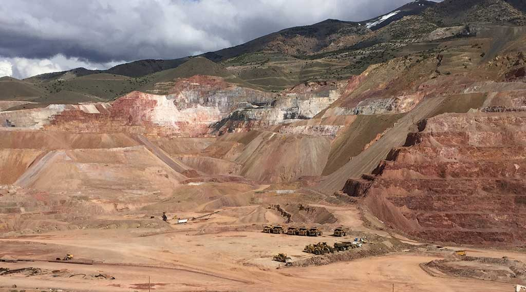 Looking northeast at Rye Patch Gold's past-producing Florida Canyon gold mine in Nevada. Credit: Rye Patch Gold.