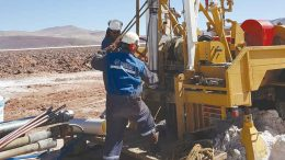 Workers at the Pozuelos lithium property in Argentina's Salta province. LSC Lithium announced in March that it would acquire the 300 sq. km property. Credit: LSC Lithium.