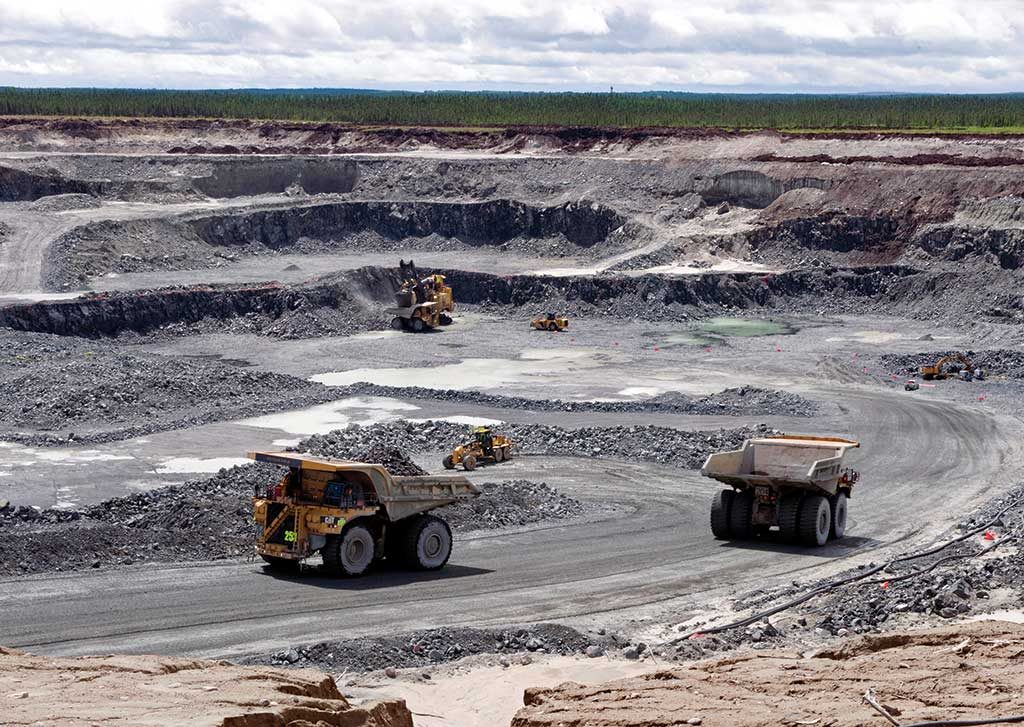 Mining trucks in the pit at Detour Gold's Detour Lake gold mine in northeastern Ontario. Credit: Detour Gold.