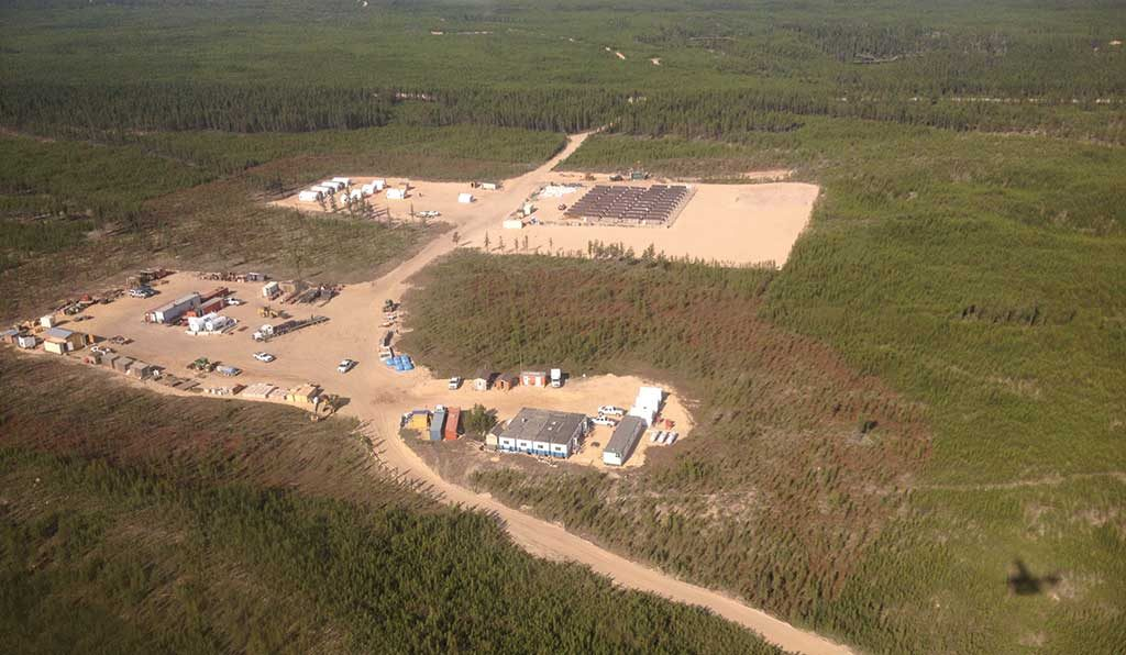 Fission Uranium's exploration camp in July 2016 at the Patterson Lake South uranium project in northern Saskatchewan. Photo by Lesley Stokes.