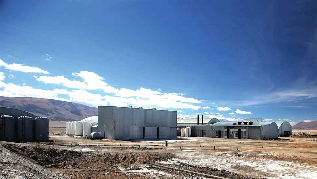 Facilities at Enirgi Group's Rincon lithium project in Salta province, Argentina, where the company is building a demonstration plant for its Direct Xtraction lithium processing technology. LSC Lithium envisions possibly sending brine from its properties to a future plant and Rincon. Credit: LSC Lithium.