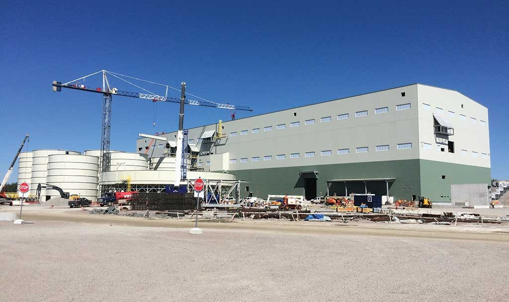The plant at New Gold's Rainy River gold mine in Ontario. Credit: New Gold.