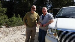 Otis Gold president Craig Lindsay (left) and chief geologist Mitch Bernardi at the Kilgore gold project in Idaho. Credit: Otis Gold.