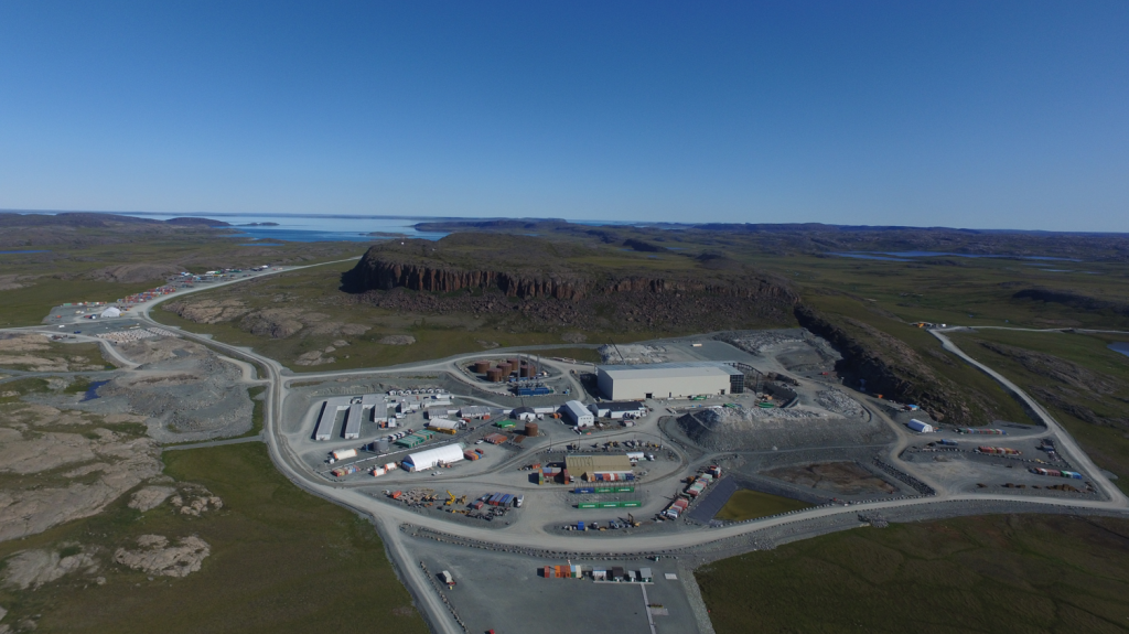 Aerial view from the south of TMAC Resources' Doris gold mine at the Hope Bay gold property in Nunavut. Credit: TMAC Resources.