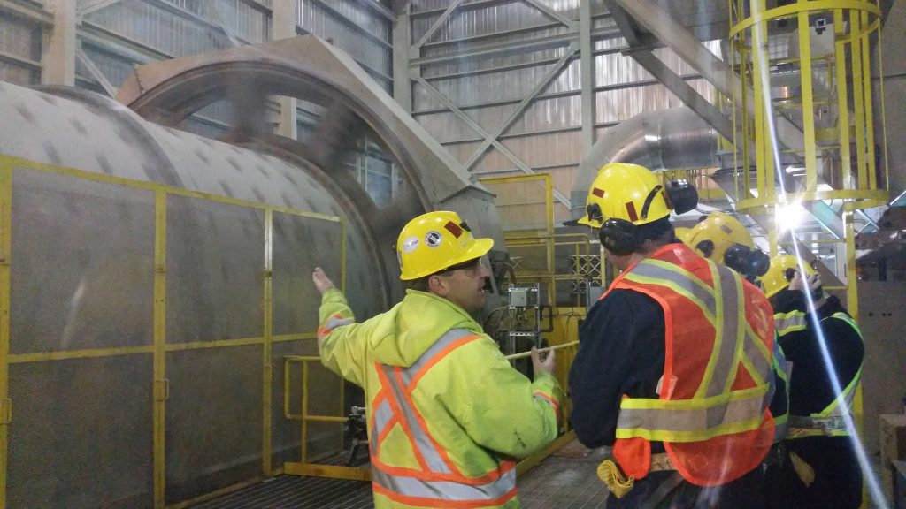 In the mill at Kirkland Lake Gold's Macassa gold mine complex in Ontario in 2015. Credit: Kirkland Lake Gold.