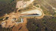 An aerial view of the box cut that will provide access to the planned Kansoko Mine on the Kamoa Deposit — one of two planned copper mines at the Kamoa-Kakula Project in the Democratic Republic of the Congo. Credit: Ivanhoe Mines.