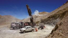 Drillers at Filo Mining's Filo del Sol copper-gold project in the Atacama region of Chile and Argentina. Credit: Filo Mining.