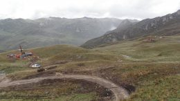 Two drill rigs at the Ayawilca zinc property 300 km east of Lima, Peru. Credit: Tinka Resources.