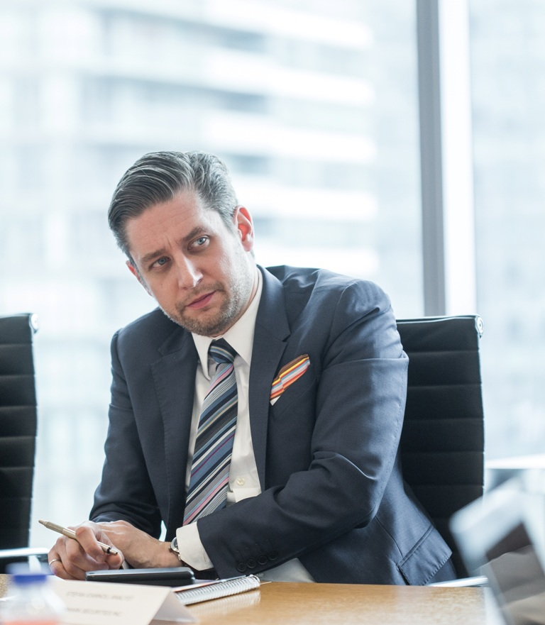 Stefan Ioannou, base metals mining analyst at brokerage house Cormark Securities. Credit: Erik Rotter for George Matthew Photography.