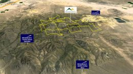A map of the Lewis gold project, which is adjacent to Newmont Mining's Phoenix gold mine in Nevada. Credit: YouTube screenshot.