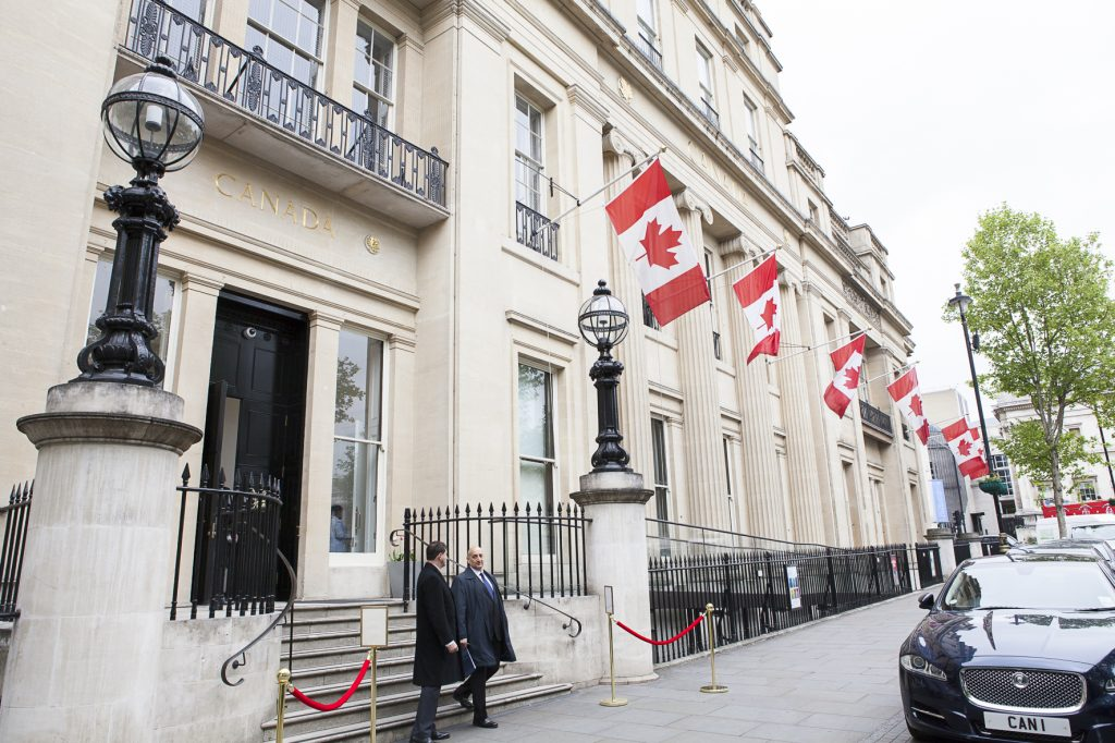 Canada House in London, U.K., which served as venue for the Canadian Mining Symposium in May 2017. Photo by Martina Lang.