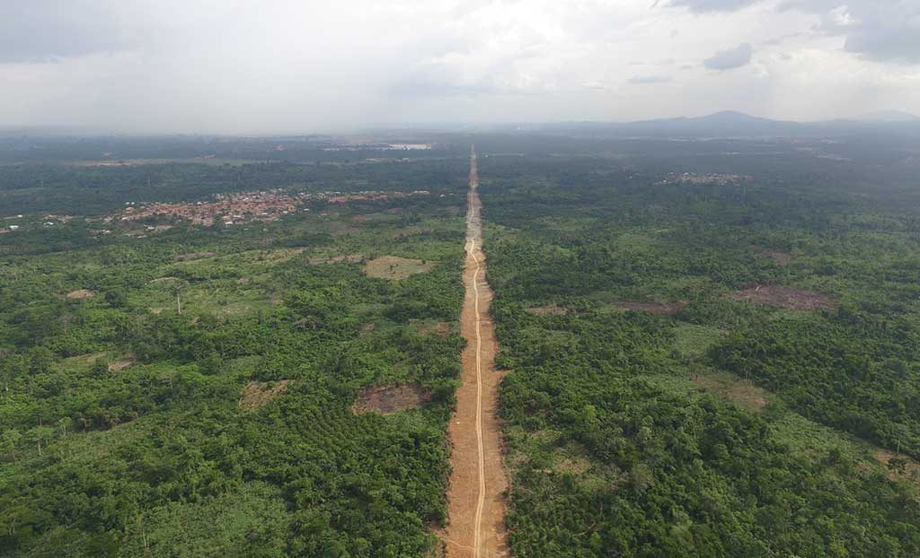 The conveyor route from Asanko Gold's Esaase gold deposit to the processing plant in Ghana. Credit: Asanko Gold.