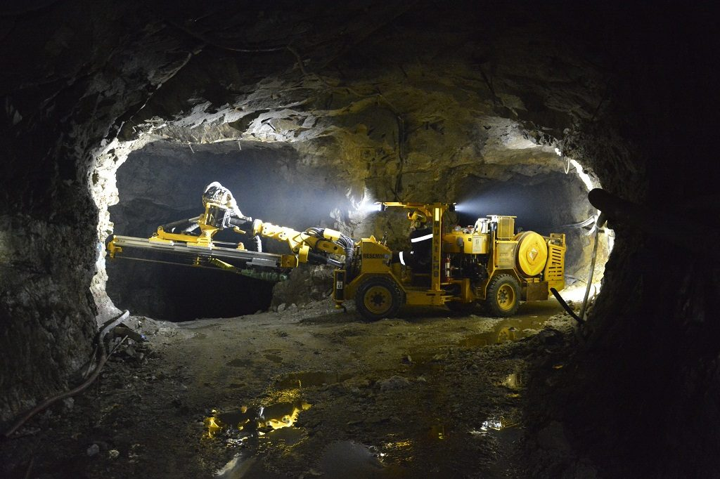Working underground at Gran Colombia Gold's Segovia gold mine in Colombia. Credit: Gran Colombia Gold.