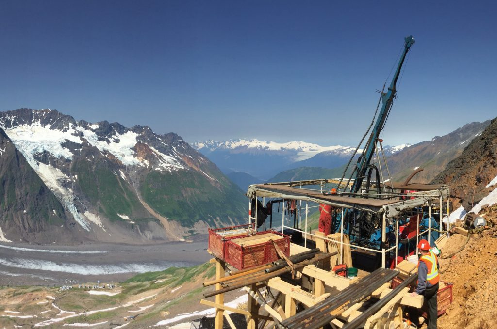 A drill rig at Colorado's KSP copper-gold property in northwestern B.C.'s Golden Triangle district. Credit: Colorado Resources.