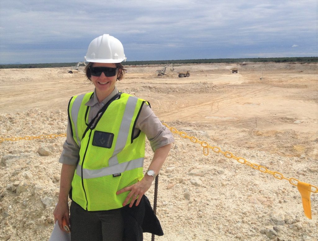 Nicole Adshead-Bell during a site visit at B2 Gold's Otijikoto gold deposit in Namibia. Credit: Nicole Adshead-Bell.