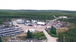 The camp at Denison Mines' Wheeler River uranium project in the eastern portion of Saskatchewan's Athabasca basin. Credit: Denison Mines.
