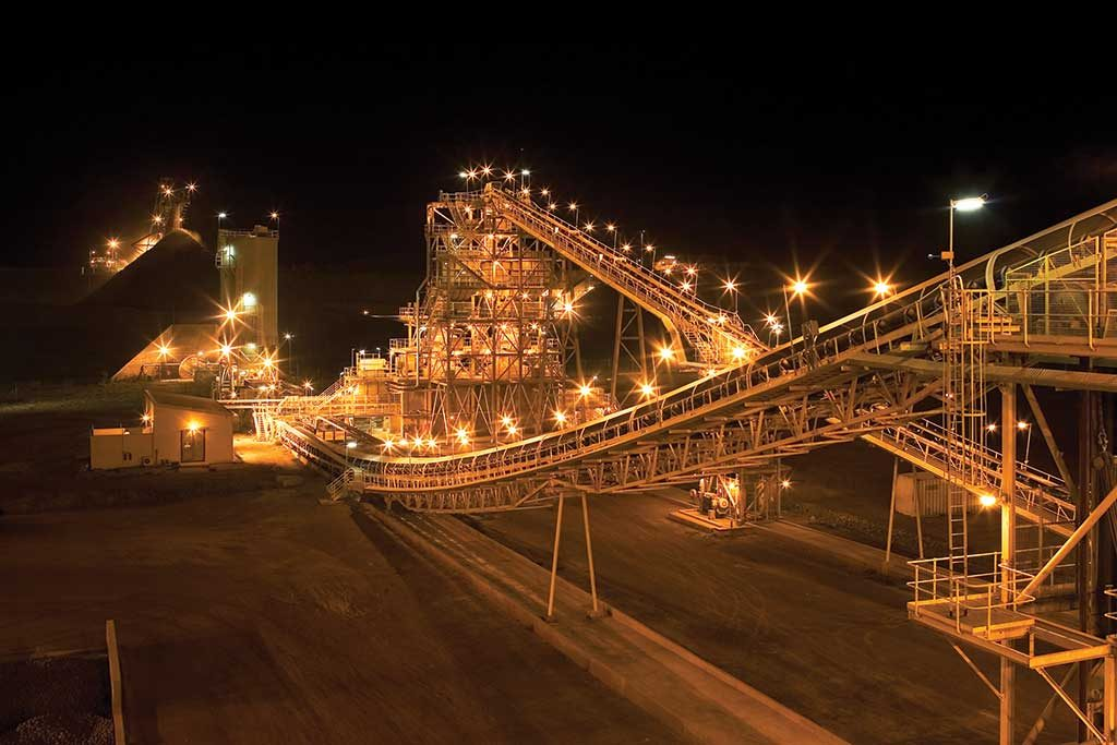 The mill at Newmont Mining's Ahafo gold mine in Ghana. Credit: Newmont Mining.