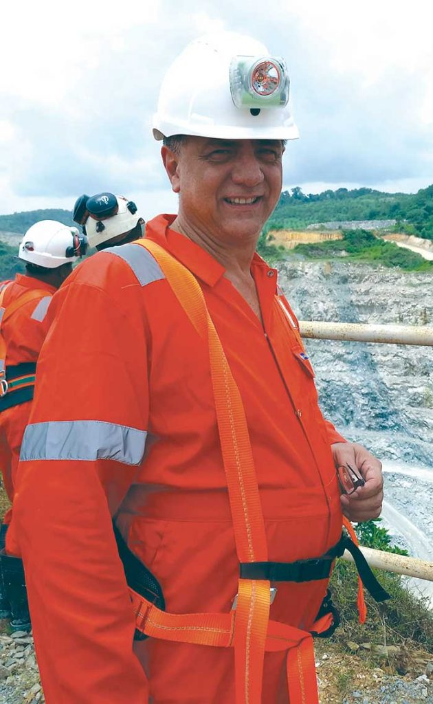 Golden Star Resources' president and CEO Sam Coetzer at the Wassa open-pit gold mine in Ghana. Photo by Trish Saywell.