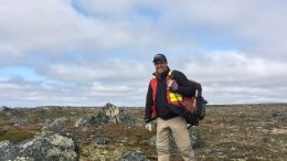 Dunnedin Ventures CEO Chris Taylor at the Kahuna project in Nunavut.