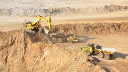 Mining in 2011 at the Mupane gold mine in Botswana, now owned by Galane Gold. Credit: Galane Gold.