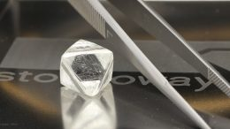 A rough diamond from Stornoway Diamond's Renard mine in Quebec. Credit: Stornoway Diamond