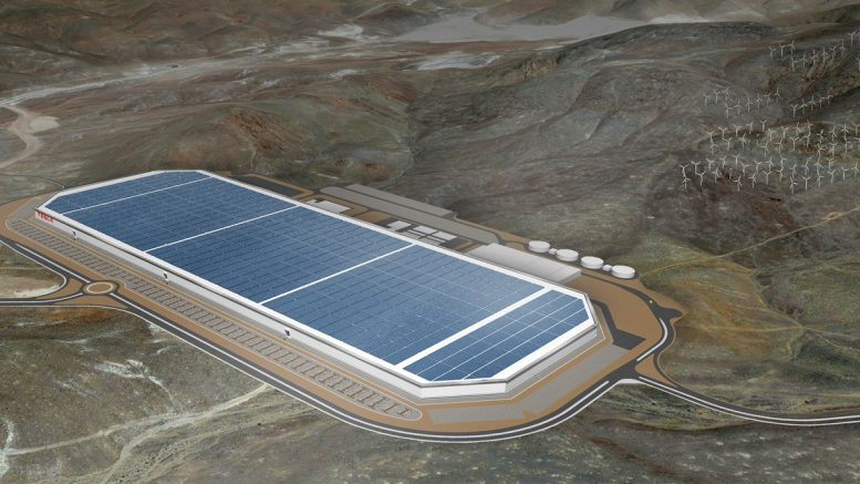 "Tesla broke ground on its ""Gigafactory"" outside Sparks, Nevada, in June 2014. It expects to begin battery-cell production by year end. Credit: Tesla Motors."