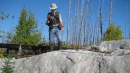 Carrying out exploration at Nemaska Lithium's Whabouchi hard-rock lithium property in Quebec. Credit: Nemaska Lithium.