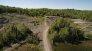 A view of First Cobalt's Frontier cobalt property from Gibson Lake in Northern Ontario's Cobalt mining camp. Credit: First Cobalt.