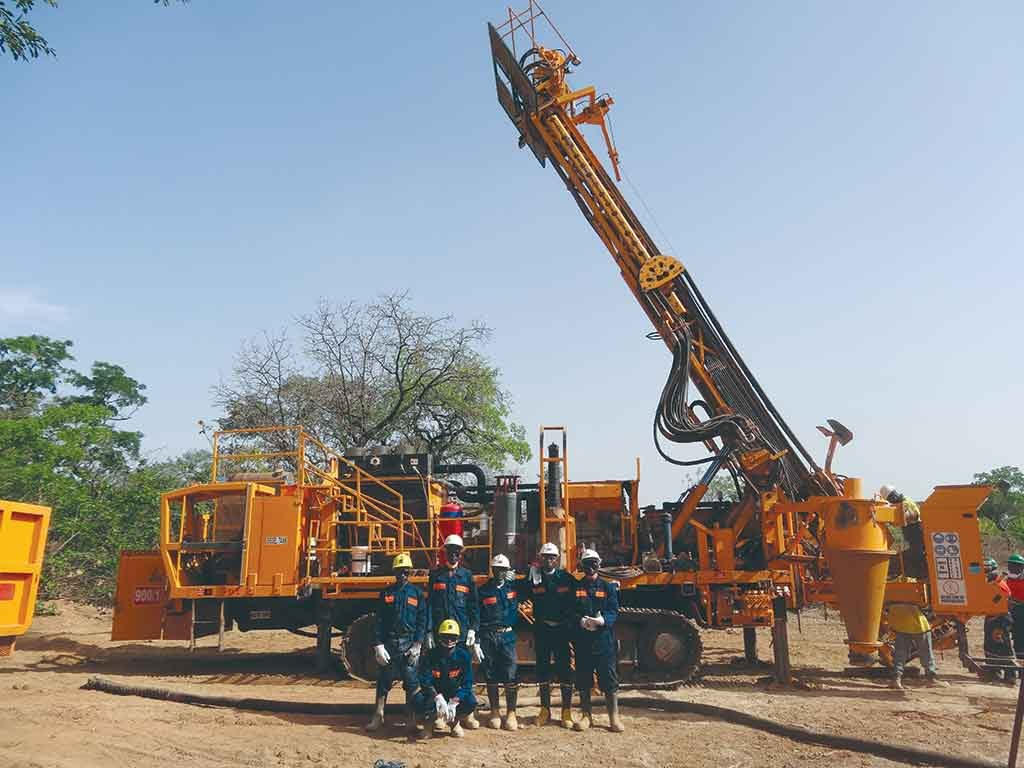 Drillers at Avnel Gold Mining's flagship Kalana gold project in southwest Mali in 2015. Credit: Avnel Gold Mining.