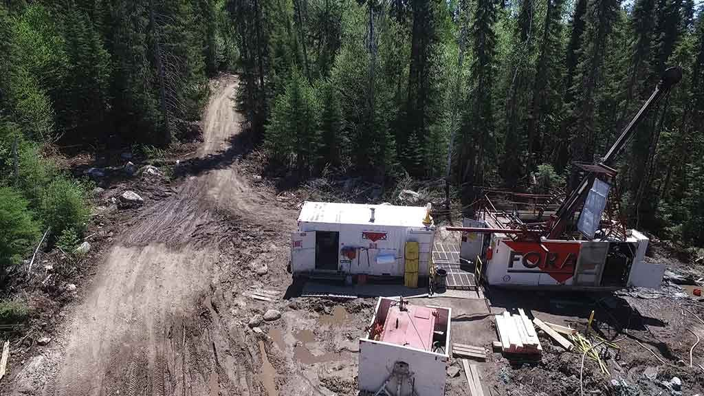 A drill site at the Sugar Zone project. Credit: Harte Gold.