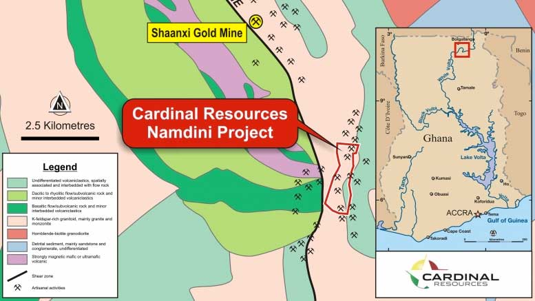 Cardinal Resources Delineates M Oz Gold At Namdini In Ghana - Where is ghana located