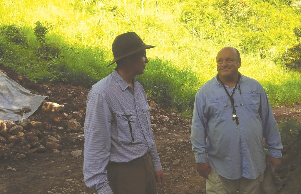 Almadex Minerals president and CEO Morgan Poliquin (left) and director Larry Segerstrom at the El Cobre copper-gold project in Veracruz, Mexico. Almadex Minerals