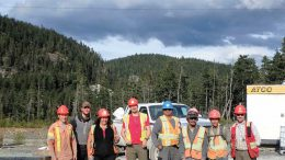 The project team at Colorado Resources' KSP gold-copper property in British Columbia's Golden Triangle. Credit: Colorado Resources.