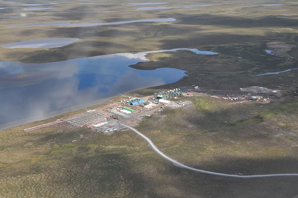 Sabina Gold & Silver's Back River gold project before the Nunavut Impact Review Board rejected the first application for more development. NIRB's subsequent approval came after five years of review and public hearings. Credit: Sabina Gold & Silver.