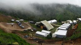 SolGold's Cascabel camp, 180 km north of Quito in Ecuador. The company expects to ramp up from five to eight drill rigs before delivering its first inferred resource estimate at the property's Alpala porphyry cluster later this year. Credit: SolGold.