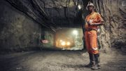 A worker in Acacia Mining's Bulyanhulu gold mine in Tanzania. Credit: Acacia Mining.