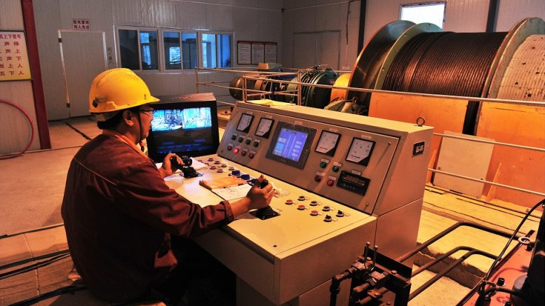Employee at Silvercorp's Ying facility in China. Credit. Silvercorp Resources.